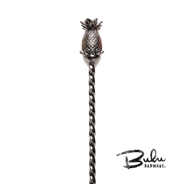 Pineapple Barspoon Gunmetal Black Cocktail Equipment