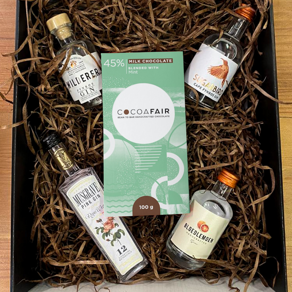 mini gin christmas gift box