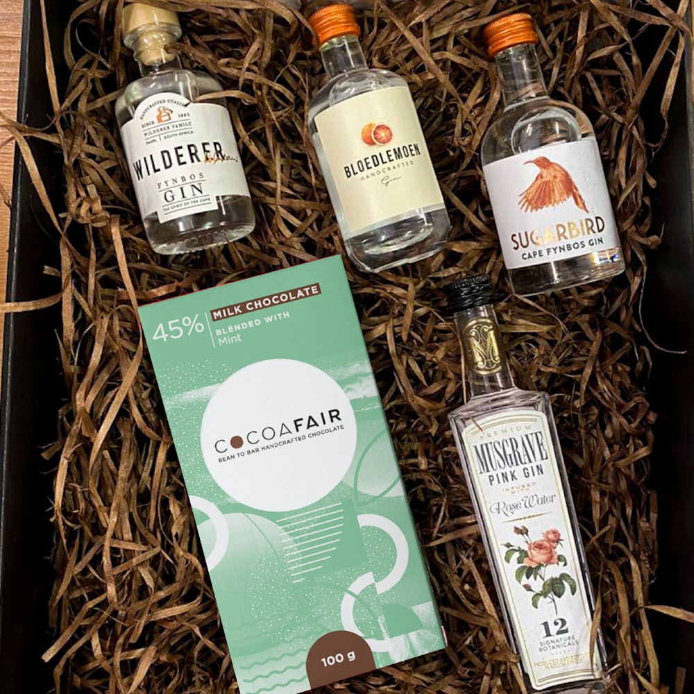 mini gin christmas gift box
